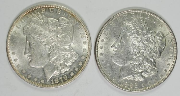 1879-O & 1898 BU MORGAN SILVER DOLLARS