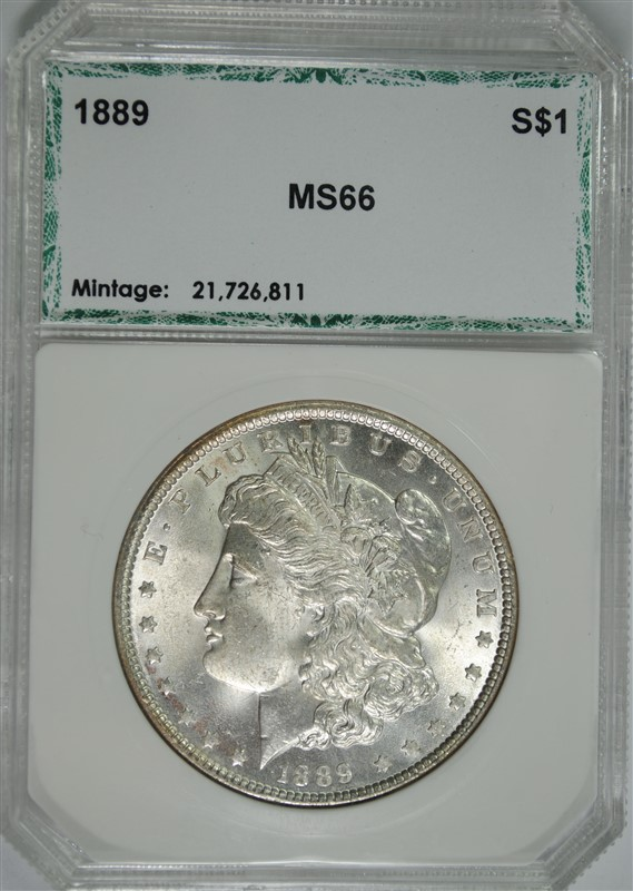 1889 MORGAN SILVER DOLLAR, PCI SUPERB GEM BU