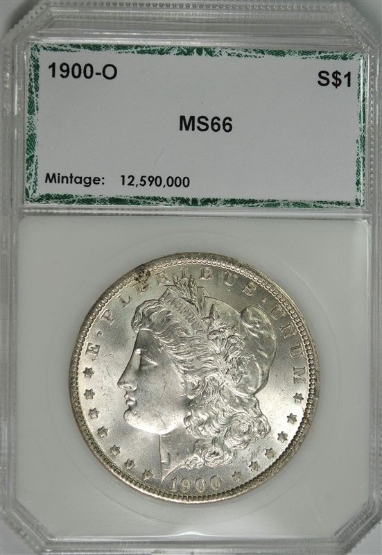 1900-O MORGAN SILVER DOLLAR, PCI SUPERB GEM BU