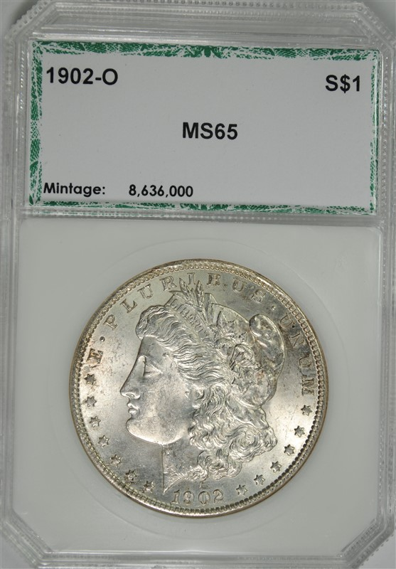 1902-O MORGAN SILVER DOLLAR, PCI GEM BU