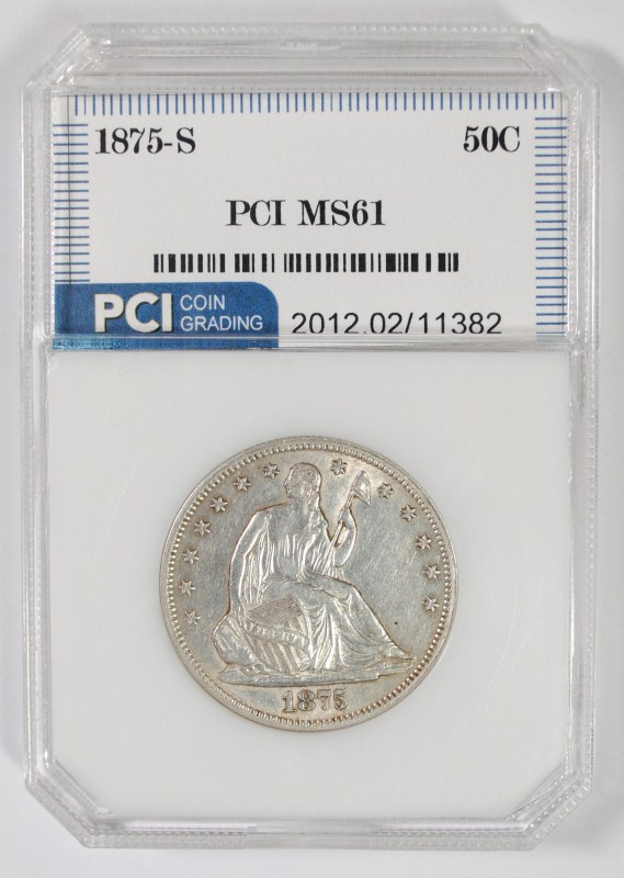 1875-S LIBERTY SEATED HALF DOLLAR PCI CH BU