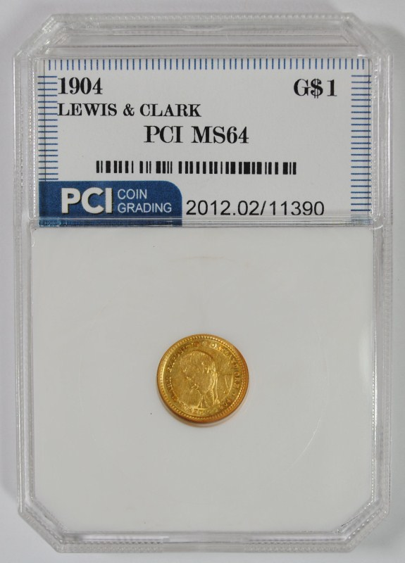 1904 LEWIS & CLARK $1 GOLD COMMEMORATIVE PCI CH BU