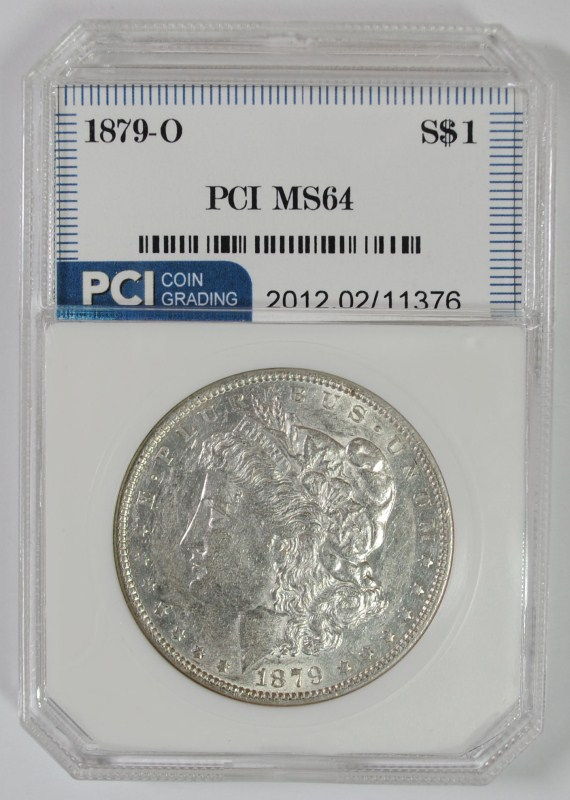 1879-O MORGAN SILVER DOLLAR PCI CH BU SEMI-KEY DATE