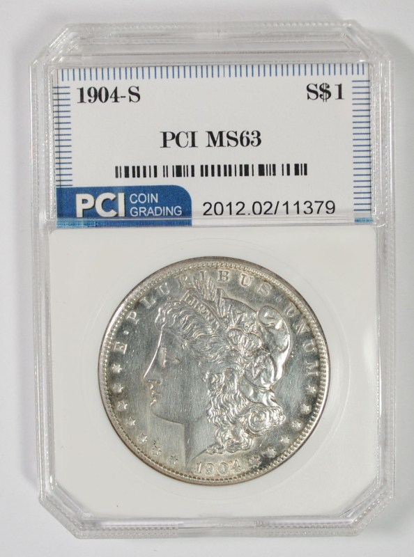 1904-S MORGAN SILVER DOLLAR PCI CH BU  KEY DATE