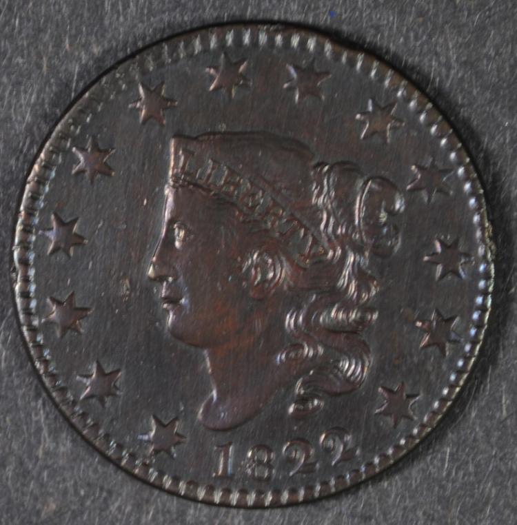 1822 LARGE CENT AU