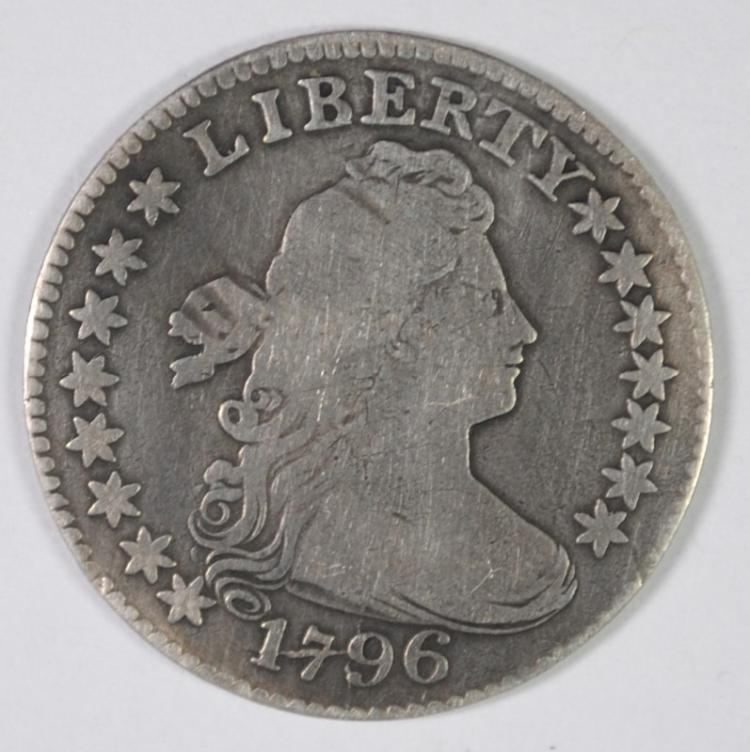 1796 BUST DIME VF RARE EARLY US COIN