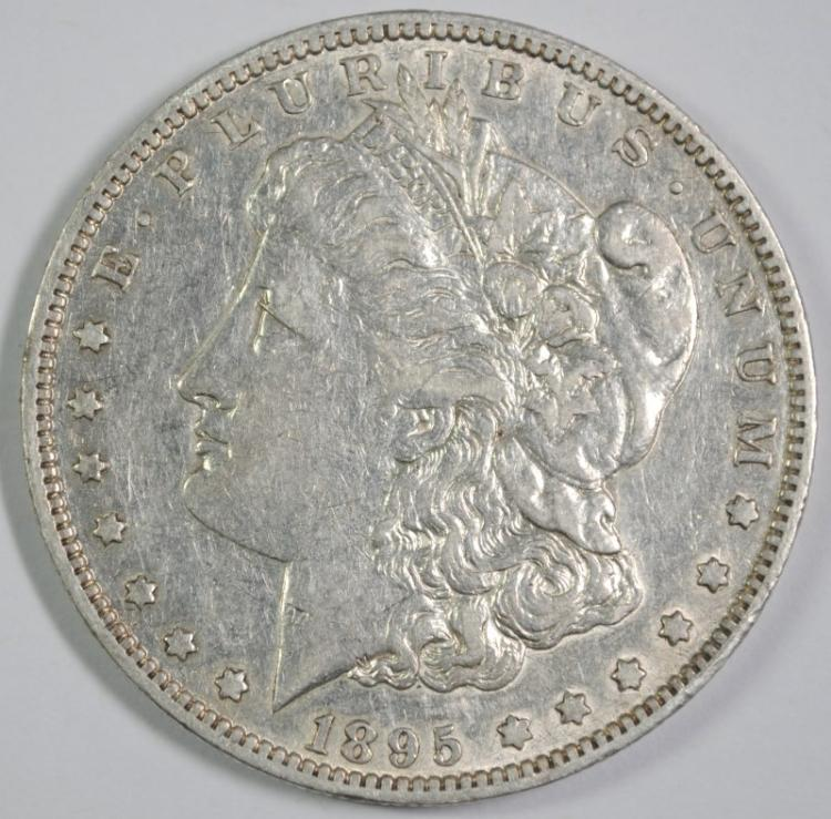 1895-O MORGAN DOLLAR XF/AU