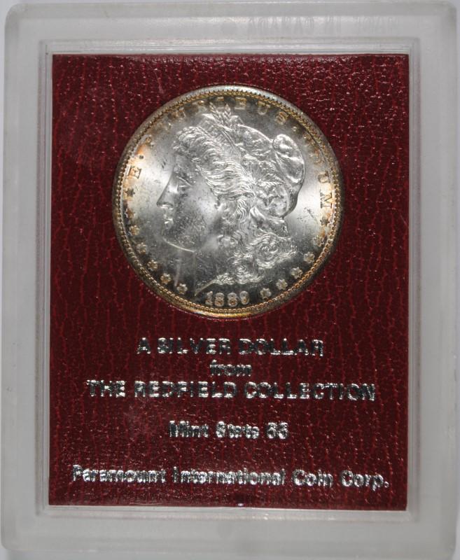 1889-S MORGAN DOLLAR REDFIELD  HOARD PARAMOUNT GEM BU
