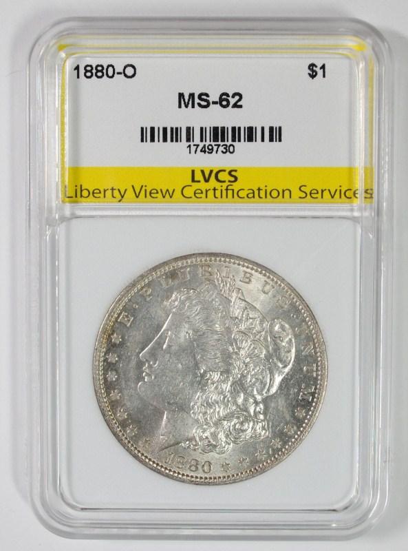1880-O MORGAN SILVER DOLLAR LVCS CH BU