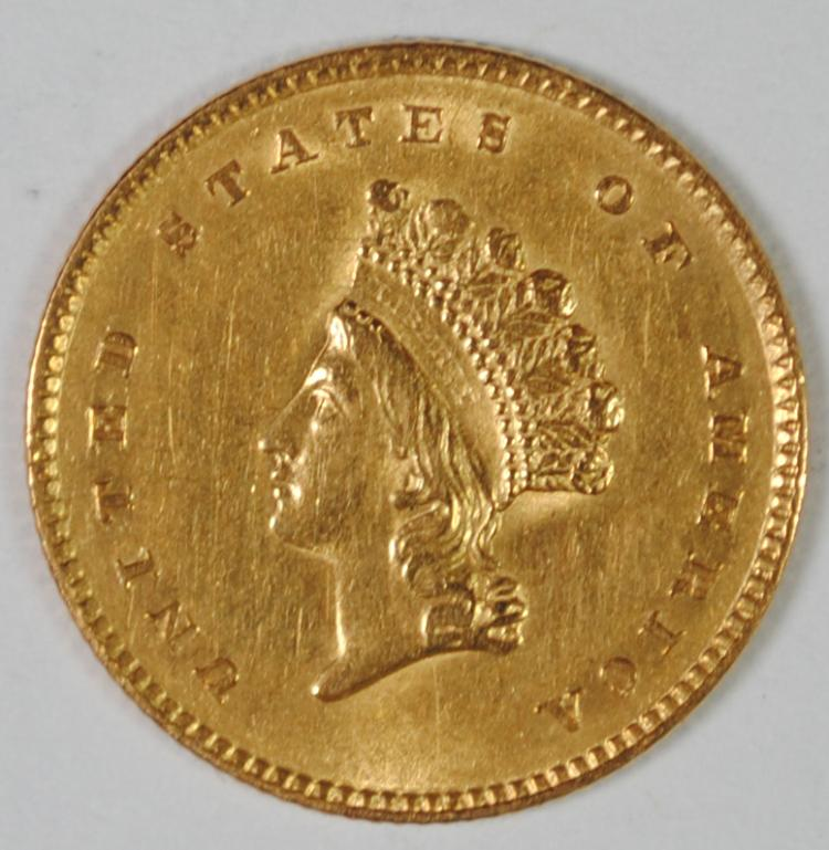 1854 TYPE 2 GOLD DOLLAR AU/BU