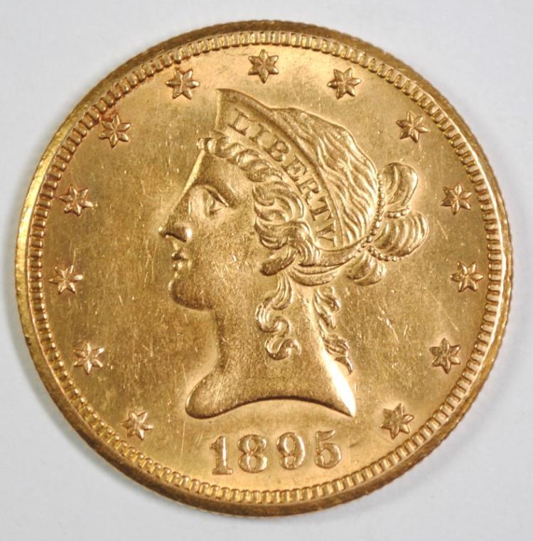 1895-O $10 GOLD LIBERTY BU