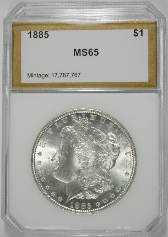 1885 MORGAN DOLLAR PCI GEM BU