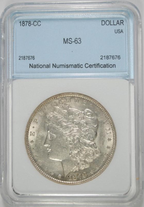 1878-CC MORGAN DOLLAR NNC CH BU