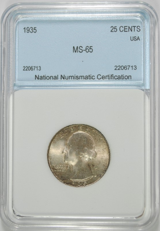 1935 WASHINGTON QUARTER NNC GEM