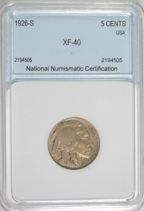 1926-S BUFFALO NICKEL NNC XF KEY DATE ORIGINAL SURFACES