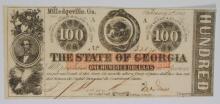 1863 $100 STATE OF GEORGIA FULLY ISSUED CIVIL WAR CH.CU