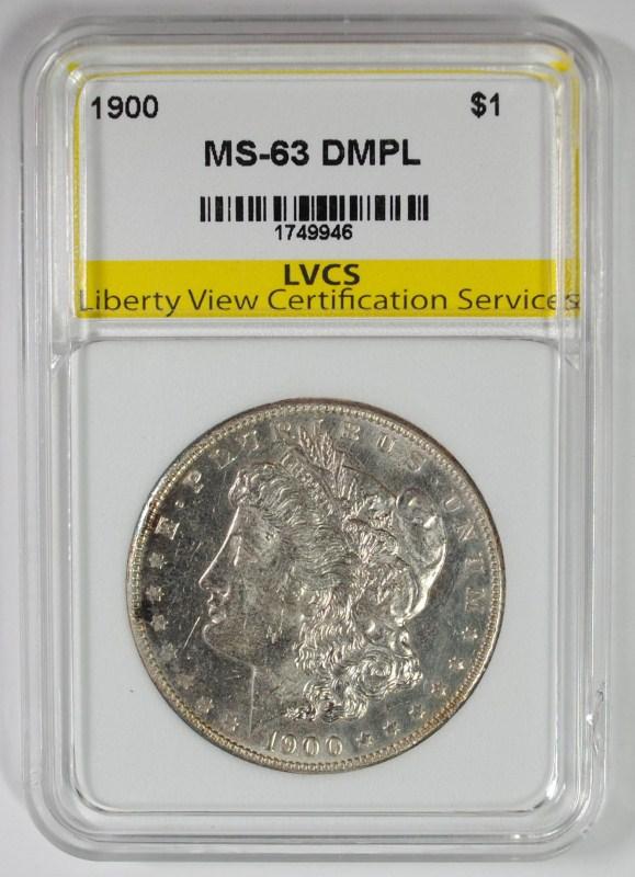1900 MORGAN SILVER DOLLAR LVCS CH BU DMPL