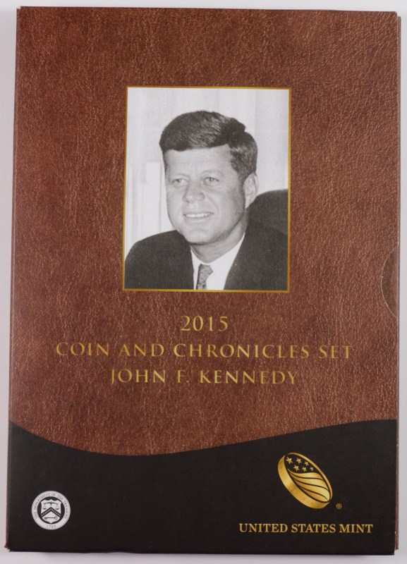2015 J.F.K. COIN AND CHRONICLES SET IN ORIGINAL PACKAGING
