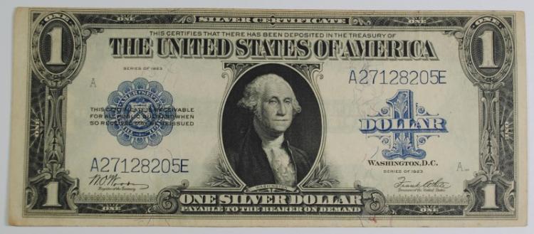1923 $1 SILVER CERTIFICATE - XF