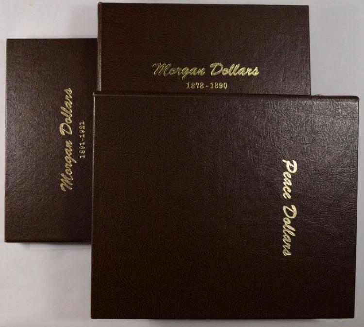 SET OF DANSCO ALBUMS FOR MORGAN AND PEACE DOLLAR SETS: NICE USED CONDITION SAVE!