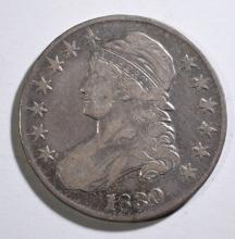 1830 BUST HALF DOLLAR, FINE