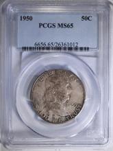 1950 FRANKLIN HALF DOLLAR, PCGS MS-65