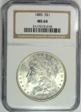 1885 MORGAN SILVER DOLLAR NGC MS-64  NICE