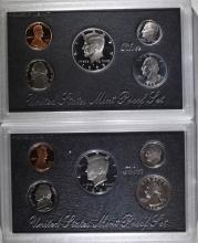 1994 & 1995 U.S. SILVER PROOF SETS IN ORIGINAL PACKAGING