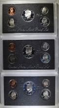 1996, 1997 & 1998 U.S. SILVER PROOF SETS IN ORIGINAL PACKAGING