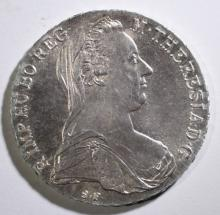 1780 MARIA THERESIA THALER AUSTRIA SILVER COIN -  BU