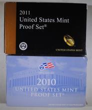 2010 & 2011 U.S. PROOF SETS IN ORIGINAL PACKAGING