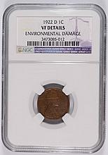 1922-D LINCOLN CENT NGC VF DETAILS