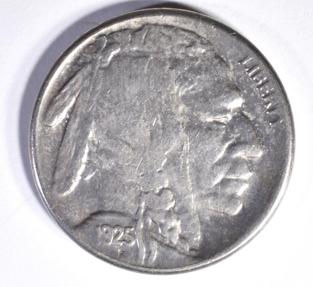 1925-S BUFFALO NICKEL, AU/BU