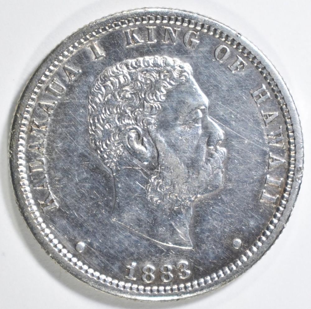 1883 HAWAII QUARTER AU +