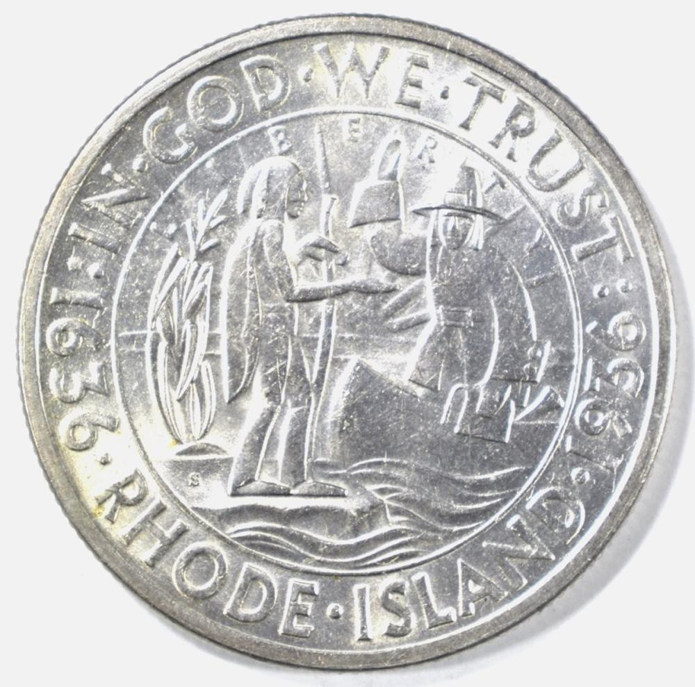 1936-S RHODE ISLAND COMMEM HALF GEM BU