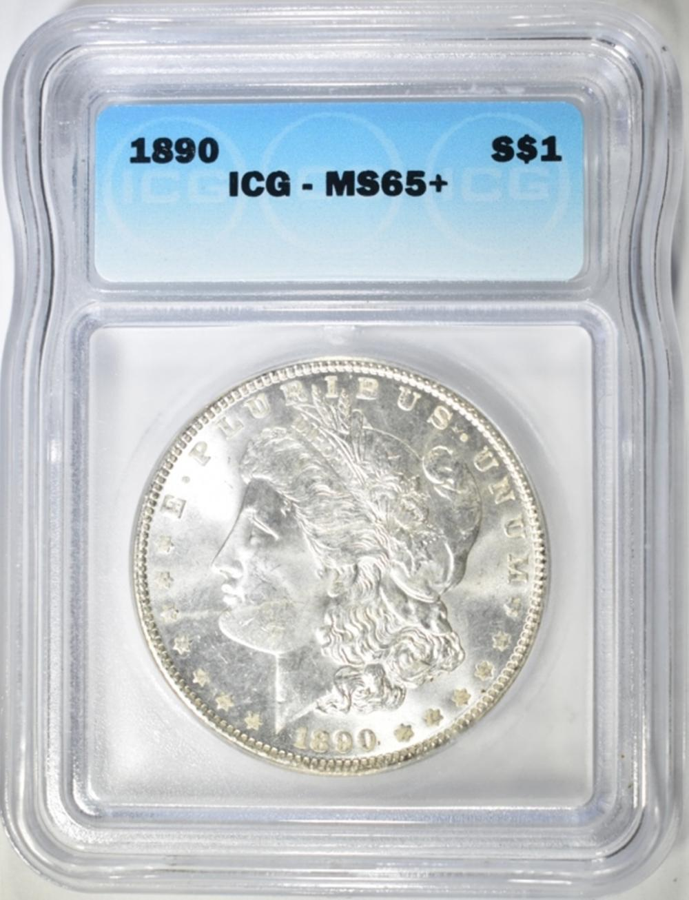 1890 MORGAN DOLLAR  ICG MS-65+