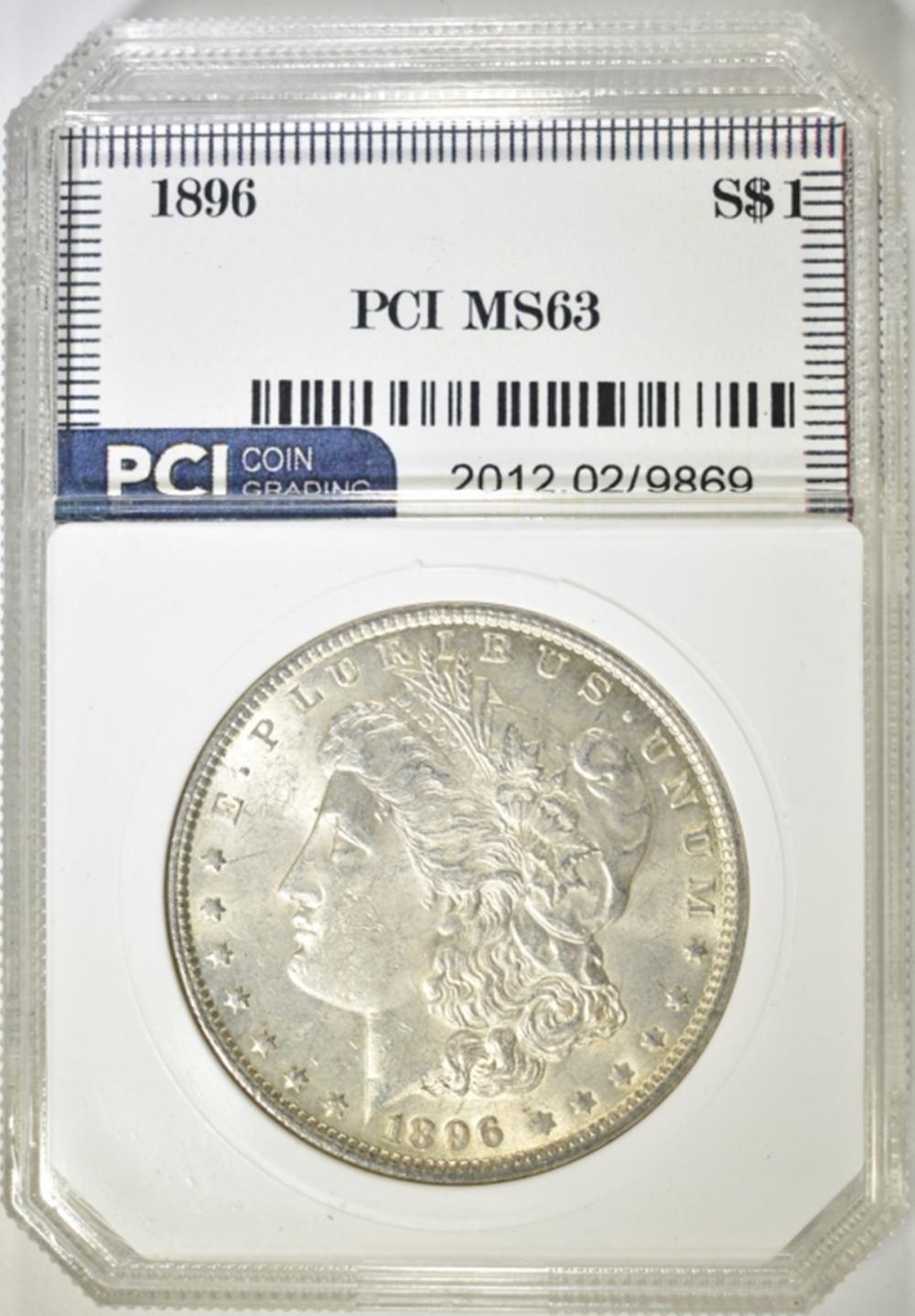 1896 MORGAN DOLLAR  PCI CH BU
