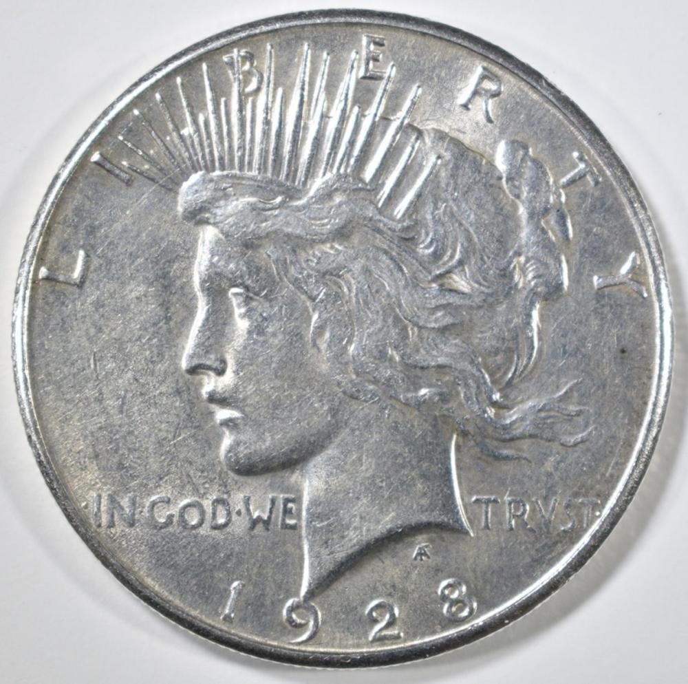 1928-S PEACE DOLLAR  CH AU