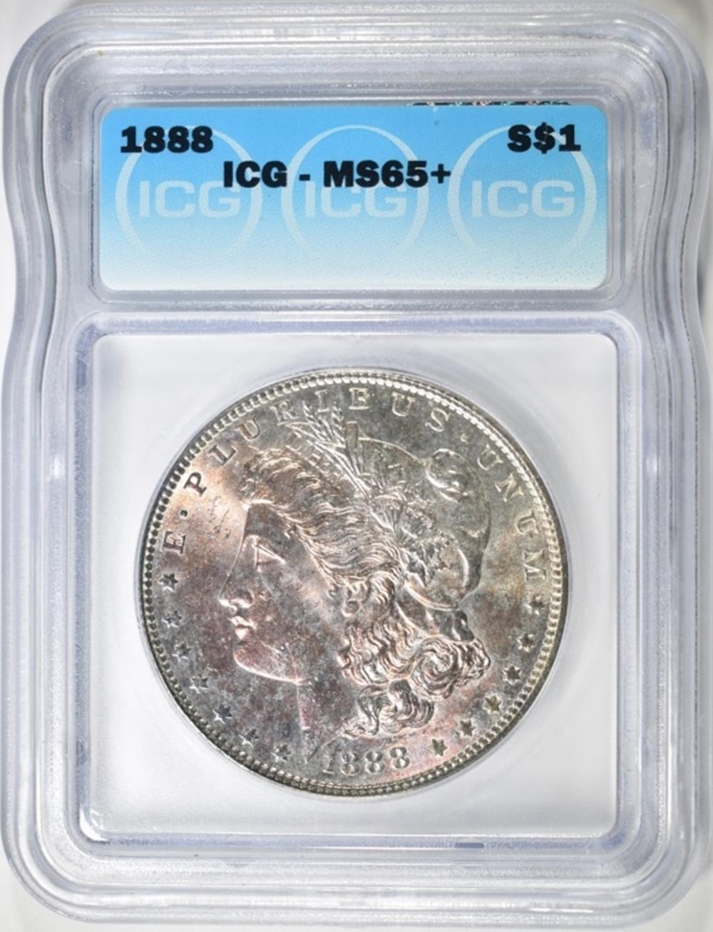 1888 MORGAN DOLLAR  ICG  MS-65+