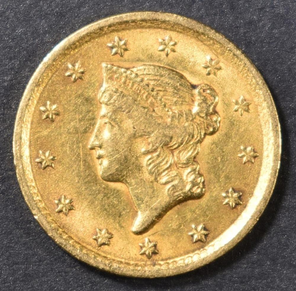 1852 $1 GOLD LIBERTY HEAD  XF