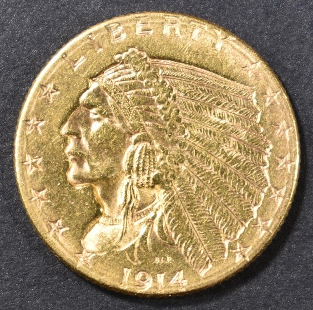 1914-D $2.5 GOLD INDIAN HEAD  UNC