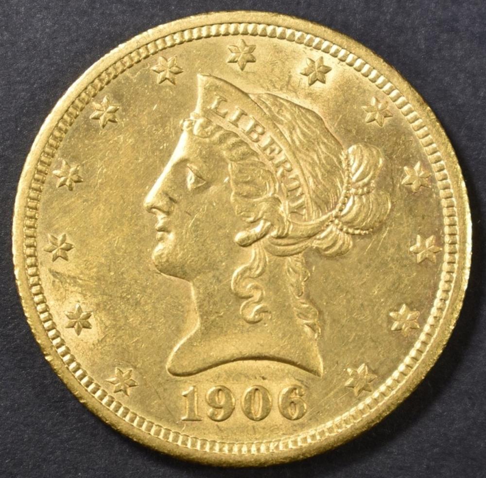 1906-D $10 GOLD LIBERTY HEAD  UNC