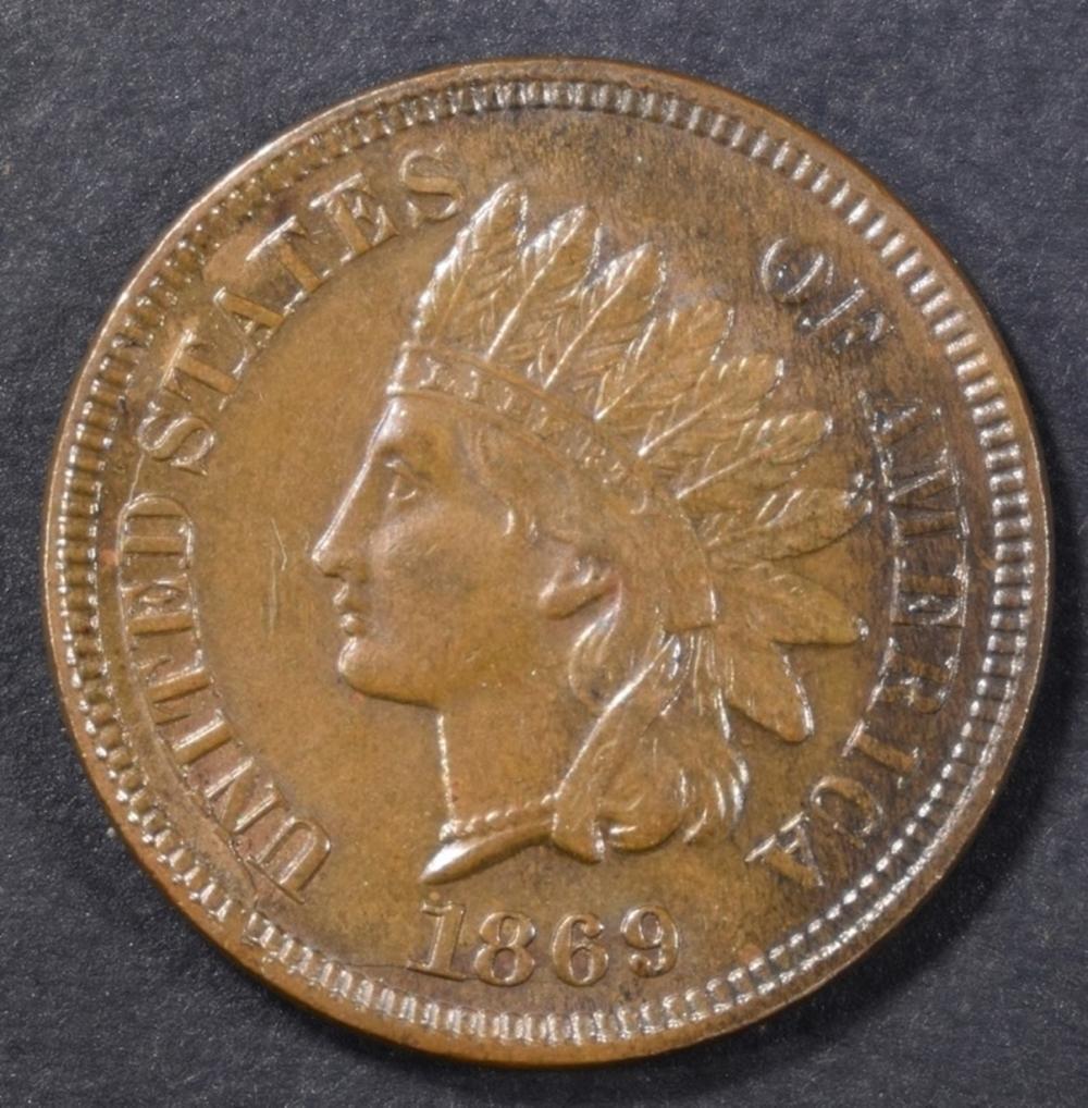 1869 INDIAN HEAD CENT  CH UNC