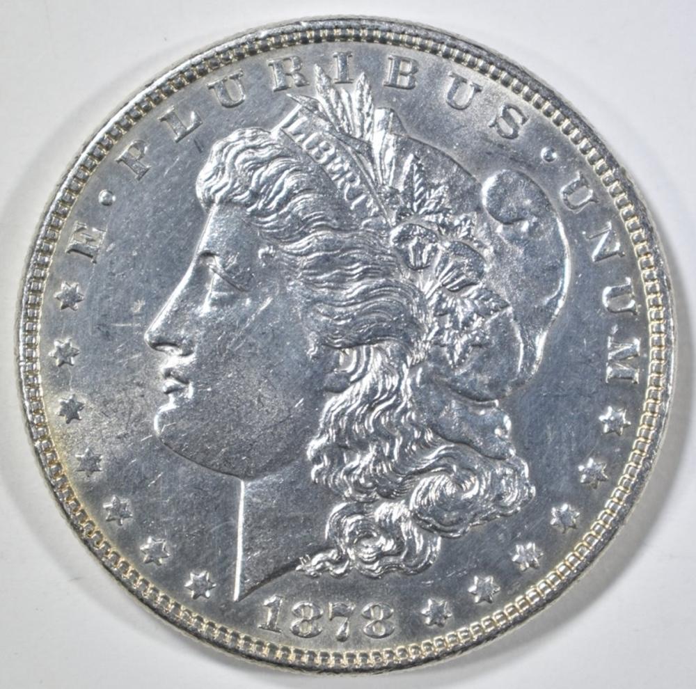 1878 7 TF MORGAN DOLLAR  CH BU