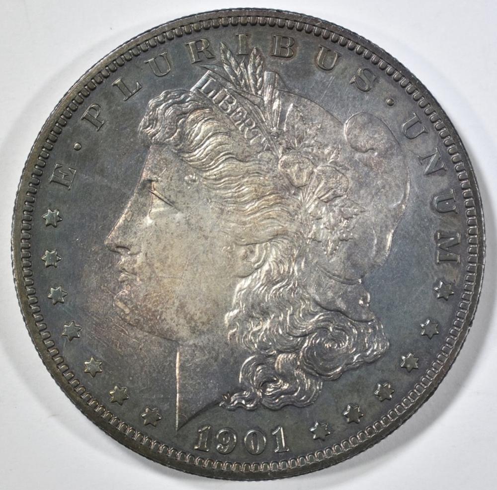 1901 MORGAN DOLLAR  CH GEM BU