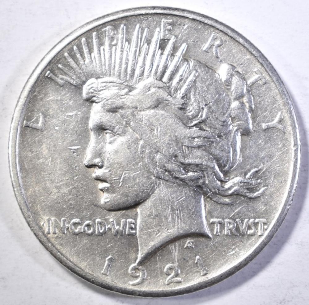 1921 PEACE DOLLAR  XF/AU