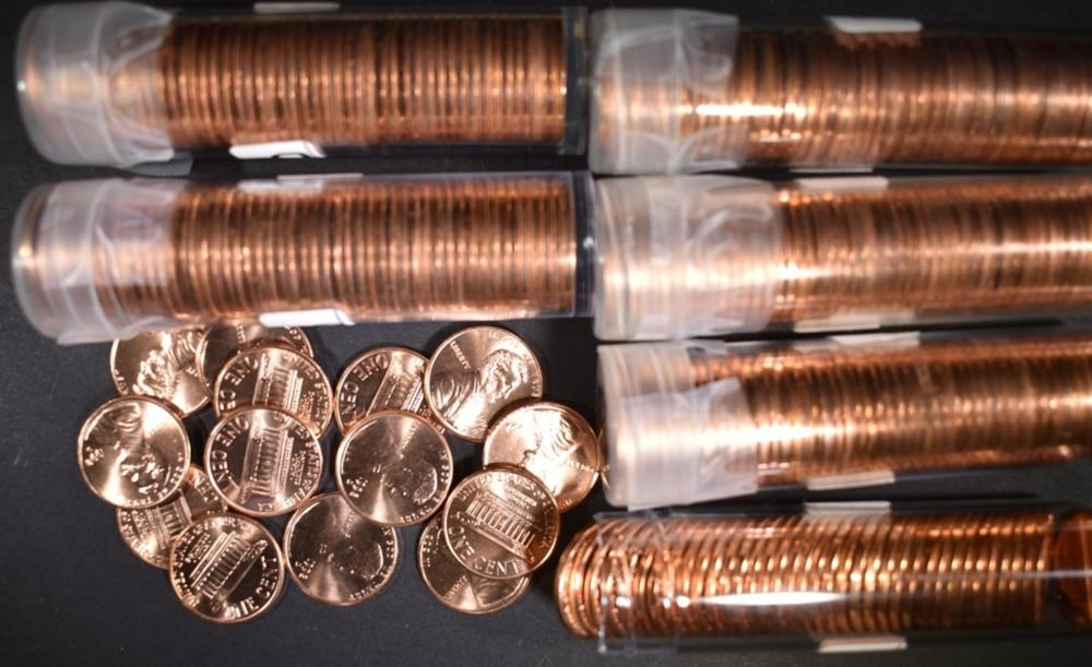 BU LINCOLN CENT ROLL LOT: