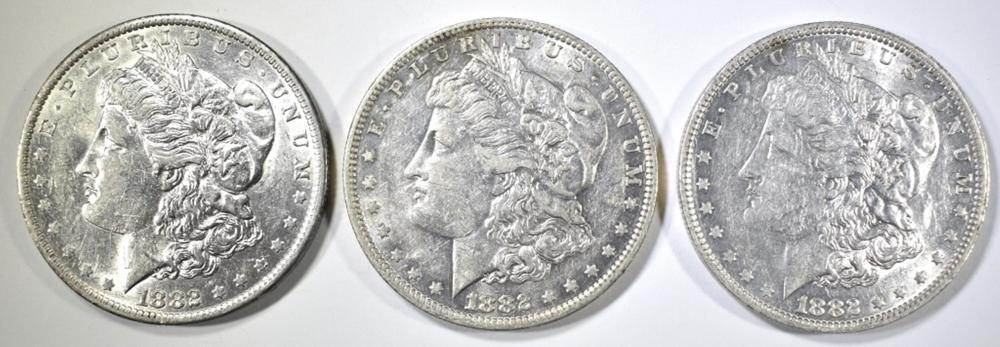 3-1882-O MORGAN DOLLARS AU/BU
