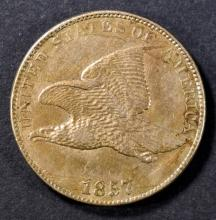 Lot 4: 1857 FLYING EAGLE CENT AU