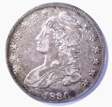 Lot 10: 1836 LETTERED EDGE BUST HALF DOLLAR XF